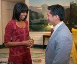 As Michelle Obama turned 49 her office unveiled her new Twitter identity and a second tweet revealed her new blunt bob