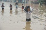 At least four people have been killed by heavy flooding in the Indonesian capital, Jakarta