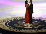 Barack Obama made an emotional tribute to First Lady Michelle Obama last night as they danced at the inauguration balls to celebrate the beginning of his second term