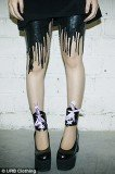 Brand new label URB clothing have jumped on board the trend for statement legs creating outlandish punky hosiery that's not for the faint-hearted