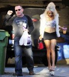 Courtney Stodden was seen in her usual skimpy attire Wednesday returning from a Taco Bell run with her 52-year-old husband Doug Hutchison