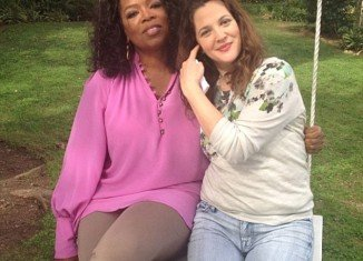 Drew Barrymore spoke to Oprah Winfrey about her battles with motherhood as she tries to raise 4-month-old daughter Olive away from the spotlight