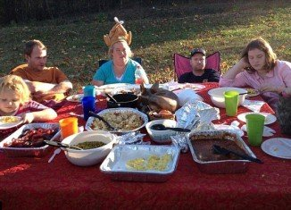 Honey Boo Boo's mother, June Shannon, rustled up a Thanksgiving feast for the family during the last episode of Here Comes Honey Boo Boo reality show