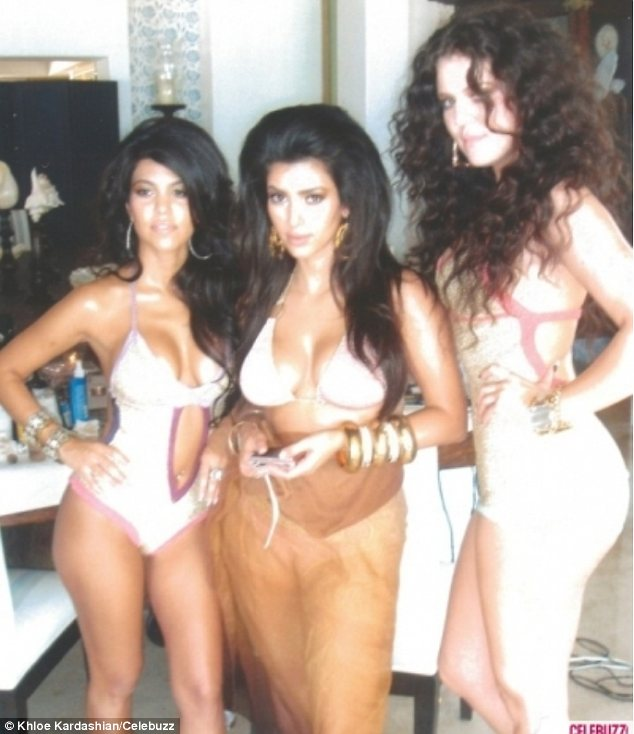 kardashian sisters in their first bikini photo shoot
