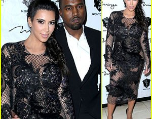 Kim Kardashian and Kanye West weren't keeping a low profile in the wake of baby news as they spent New Year's Eve partying in Las Vegas