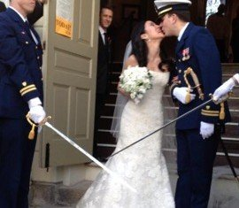 Michelle Kwan and Clay Pell have married in Rhode Island