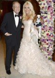 Official pictures from inside Crystal Harris and Hugh Hefner's nuptials at the Playboy Mansion