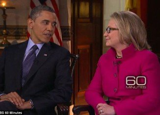 President Barack Obama and outgoing Secretary of State Hillary Clinton gave a rare joint interview for CBS' 60 Minutes