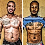 Rapper The Game tweeted a before and after picture showing off his progress 30 days into his 60-day fitness regimen