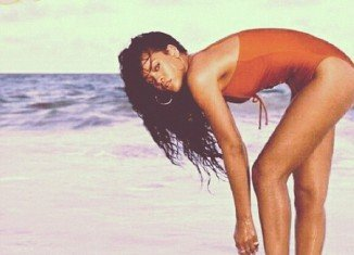 Rihanna uploaded an image of herself taken from her tourism campaign for the island of Barbados