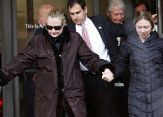 Secretary of State Hillary Clinton has been discharged from hospital after treatment on a blood clot between her skull and brain