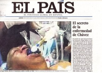 Spanish newspaper El Pais has apologized after publishing a photo of Venezuelan President Hugo Chavez which it said has turned out to be a fake