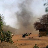 A heavy gunfire is being exchanged between Malian troops and suspected Islamist militants on the streets of Gao in northern Mali