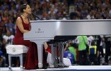 Alicia Keys delivered an all-new version of the Star Spangled Banner before super Bowl kick off in New Orleans