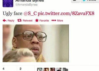"Amanda Bynes branded Jay-Z ""ugly face"" on her Twitter page"