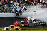 At least 28 fans have been injured in a multi-car crash during Daytona Nascar race in Florida