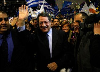 Centre-right leader Nicos Anastasiades has a 15-point lead in the polls over his main rival, leftist Stavros Malas