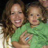 Donna Savattere with Chloe, her daughter she secretly had with Dan Marino