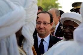 Frances President Francois Hollande is visiting Mali three weeks after French led troops launched an offensive to oust Islamist rebels from the countrys north photo