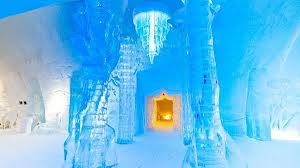 Hôtel de Glace in Quebec Canada is a palatial building constructed entirely out of ice Photo Xavier Dachez photo