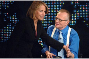 Katie Couric has admitted to dating talk show legend Larry King during Jimmy Kimmel Live