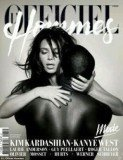 Kim Kardashian and Kanye West posed nude on the cover of French fashion magazine L'Officiel Hommes