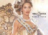 "Live Nation's site put up a promotional poster for Beyonce's not-yet-announced world tour dubbed ""The Mrs. Carter Show"""