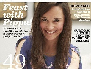 Pippa Middleton gets food column in Waitrose Kitchen magazine