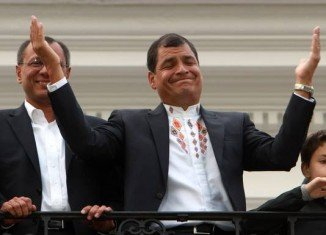 Rafael Correa has been re-elected for a third term as Ecuador's president with more than 50 percent of the vote
