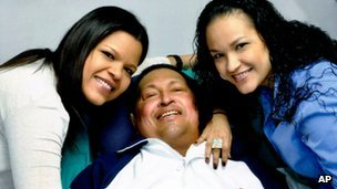 The first images of President Hugo Chavez after cancer surgery have been broadcast by the Venezuelan government