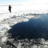 The fragments were detected around a frozen lake near Chebarkul, a town in the Chelyabinsk region, where the meteorite is believed to have landed
