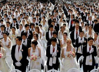 Thousands of people have been married in South Korea in the first mass wedding organized by the Unification Church since the death of its founder, Sun Myung Moon