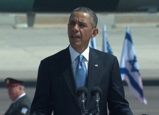 Barack Obama has arrived in Tel Aviv for his first trip to Israel as US president