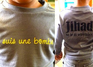 Bouchra Bagour has gone on trial in southern France for sending her 3-year-old son to nursery school wearing a T-shirt reading I am a bomb and Born on September 11