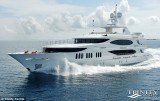 Built by Gulf Coast-based Trinity Yachts, Chris Cline's luxury yacht boasts five bedrooms, two formal dining rooms, a poolside bar, a hot tub, and a rental price of $265,000 per week