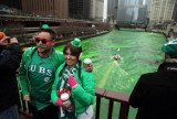 Chicago held its annual St Patrick's Day parade on Saturday morning and dyed the Chicago River green