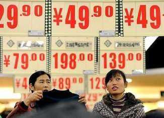 China's inflation rate hit a 10-month high in February after Lunar New Year festivities drove up food prices
