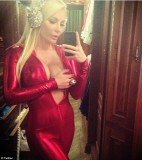 Crystal Hefner showed her followers what she would be wearing to Playboy's annual Masquerade party