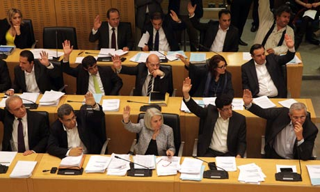 Cyprus parliament has voted to restructure the islands banks photo