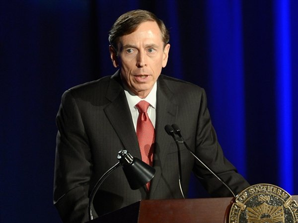 "David Petraeus has apologized to those he ""hurt and let down"", in his first public speech since resigning over his extramarital affair with biographer Paula Broadwell"