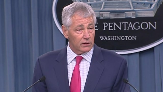 Defence Secretary Chuck Hagel has announced the US scrapped the final phase of its European missile defence shield citing development problems and funding cuts photo