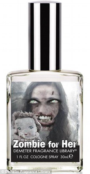 "Demeter Zombie for Her has an additional aroma of dregs ""from the bottom of the wine barrel for that feminine touch"""