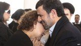 During Hugo Chavez's funeral in Caracas on Friday, Mahmoud Ahmadinejad was photographed sympathizing with Elena Frias de Chavez