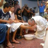 Foot washing replicates the Bible's account of Jesus Christ's gesture of humility towards his 12 apostles on the night before he was crucified