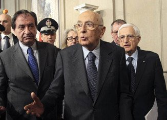 "Giorgio Napolitano named 10 ""wise men"" to work in two separate groups to end the impasse in forming a new government in Italy"