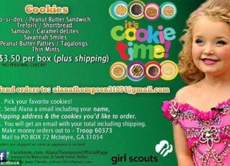 Honey Boo Boo was banned from flogging girl scout cookies on her massively popular Facebook page by the scout organization itself