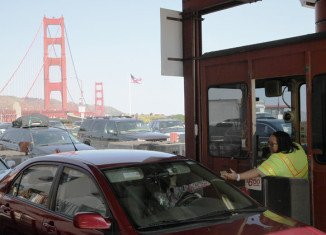 Human toll collectors at the Golden Gate Bridge in San Francisco are being replaced with an all-electronic system on Wednesday