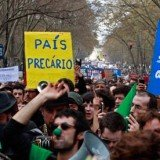 Hundreds of thousands of people have taken part in protests across Portugal against government austerity measures