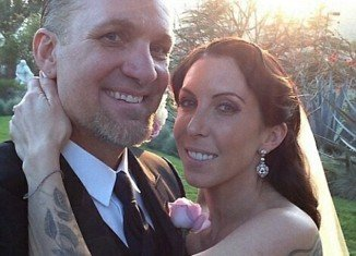 Jesse James has shared his first personal picture from his wedding day to Alexis DeJoria