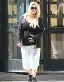 Jessica Simpson piled on 70lbs while she was pregnant with daughter Maxwell Drew but now she is determined to keep her baby weight under control